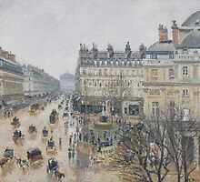 Place du Théâtre Français, Paris: Rain, 1898 by Bridgeman Art Library