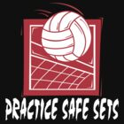"Funny Volleyball ""Practice Safe Sets"" Dark by SportsT-Shirts"