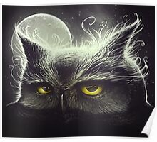 Owl & The Moon Poster