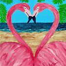 Flamingo Love by Annie Zeno