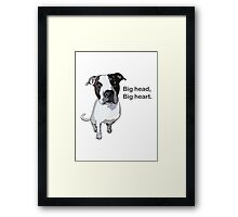 Officer Murphy is a dog of few words Framed Print