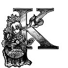 'K' Initial in Ink by MargoMundo
