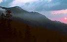 SUNSET,NEWFOUND GAP by Chuck Wickham
