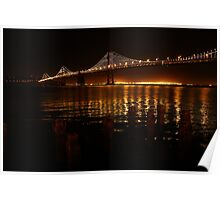 San Francisco Bay Bridge - The Bay Lights Poster
