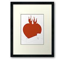 Tattoo heart Framed Print