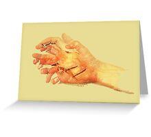 Sun hands 01 Greeting Card