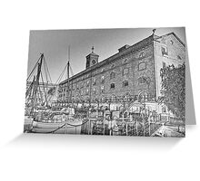 St Katherine's Dock London sketch Greeting Card