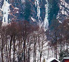 Frozen waterfalls in Elm, Switzerland by Michael Brewer