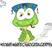 bonne année choinois du serpent en caricature by Binary-Options