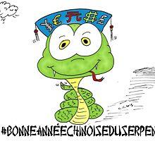 bonne année choinois du serpent en caricature by Binary-Options