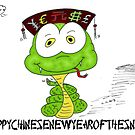 Chinse New Year of the Snake cartoon by Binary-Options