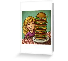 Mega Burger Greeting Card
