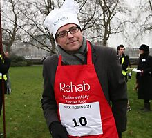 Nick Robinson Pancake Race by Keith Larby