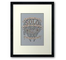 Solo Smuggling Framed Print