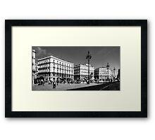 Puerta del Sol - B&W Framed Print