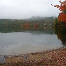 New England scene in clouds and rain by nealbarnett