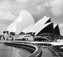 Sydney Opera House in Black & White by EKingPhotoArt