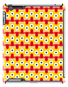 Tongue Pattern iPad Case by Gwendal