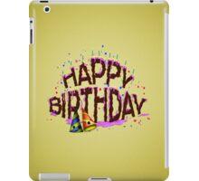 Happy Birthday Cake iPad Case/Skin