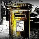 Gold Post Box by thepicturedrome