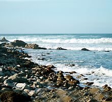 White Waves On Rocky Beach by BarbaraSnyder