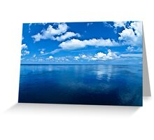 Over a Blue Horizon Greeting Card