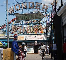 Uncle Sam at Coney Island by Katherine Case