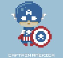 Captain America Pixels Tee by Astrotoast