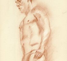 Tom Daley - portrait sketch by Paulette Farrell