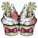 Zombie Hand Mutant Cupcake by Ella Mobbs