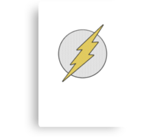 Knitted flash logo Canvas Print