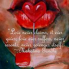 Love never claims - ValentinesQuotes by Khairzul MG