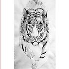 Black and White Tiger 2 by natsatcreations