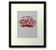 Team Horde  Framed Print