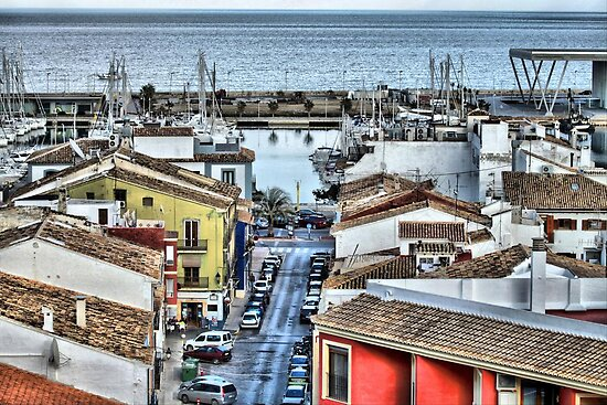 Spanish Rooftops, Denia, Valencia Spain by LisaRoberts