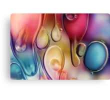 Drips of Colour Canvas Print