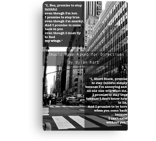 Should Have Asked for Directions Design Canvas Print