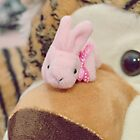 Bunny Collection #7 - a bunny and a tiger by Cyndy Ejanda