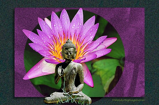 Flowering Buddha by Wendy Meg Siegel