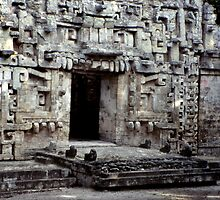 Maya Ruin at Chicana by Eva Kato