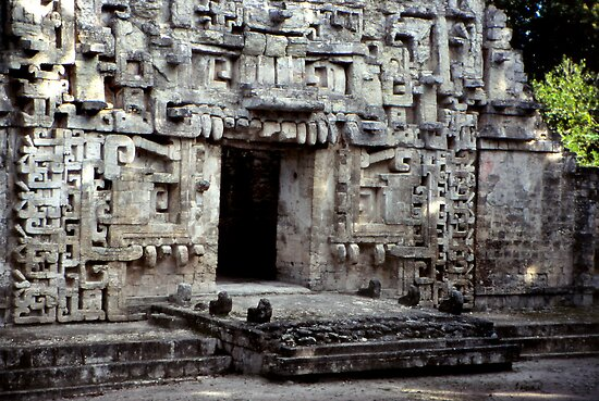 Maya Ruin at Chicana by Eva Kato