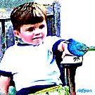 Bluebird On A Bench by Seth  Weaver