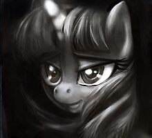 Twilight Sparkle grayscale study by ButtercupSaiyan