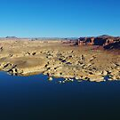 Colorado River and Hite from Hite overlook by Claudio Del Luongo