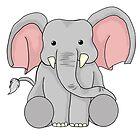Sitting Elephant by Jen Coutu