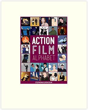action film alphabet by stephen wildish redbubble. Black Bedroom Furniture Sets. Home Design Ideas