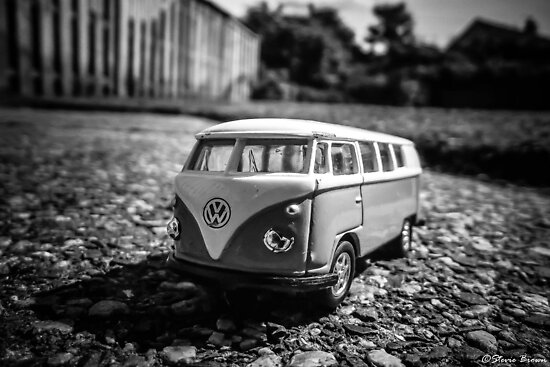 Super Mini VW Van BW by Stevie B