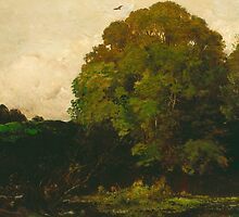 A Pond in the Morvan, 1869 by Bridgeman Art Library