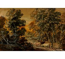 Wooded Landscape with Herdsman and Cattle, c.1770 Photographic Print