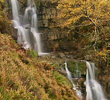 Waterfall autumn black mountains brecon beacons  by blakmountphoto